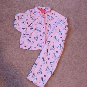 4t Carter's horse flannel pajama set